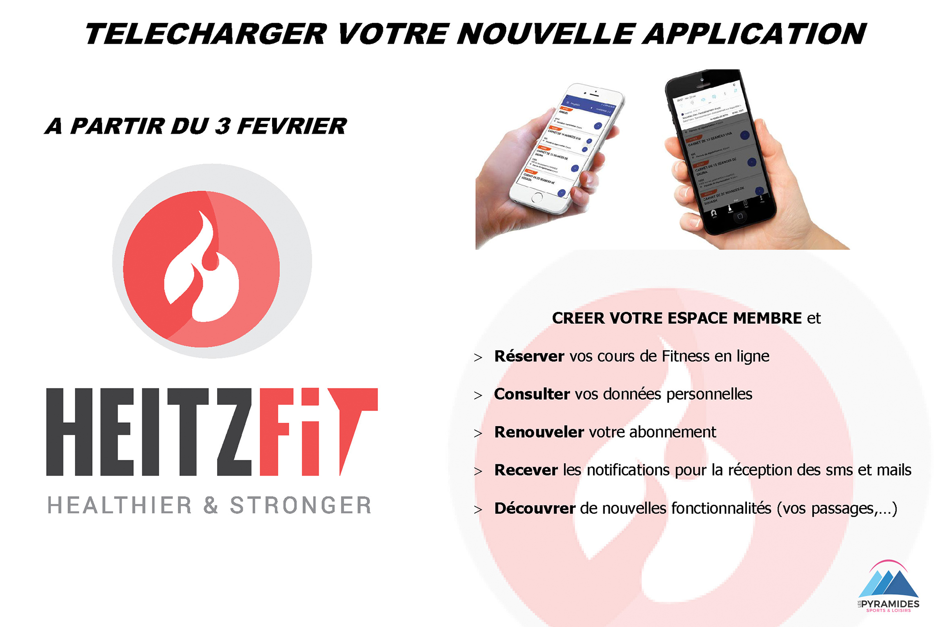 Telecharger votre nouvelle application